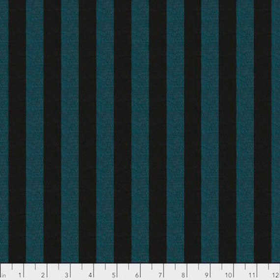 Kaffe Fassett Shot Cotton Stripes -  Fat Quarter of Fjord in Wide Shot Cotton Stripe