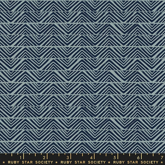 Golden Hour -- Mountain in Blue Slate (RS4018-15) by Ruby Star Society for Moda -- Fat Quarter