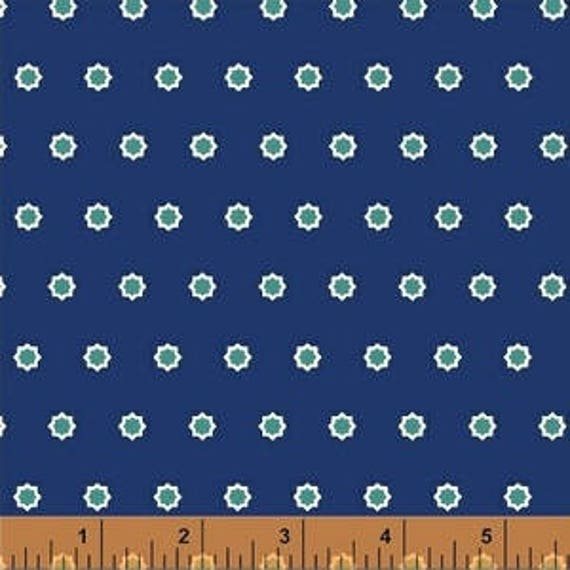 Hello Jane by Allison Harris for Windham Fabrics - Burst in Navy - Fat Quarter