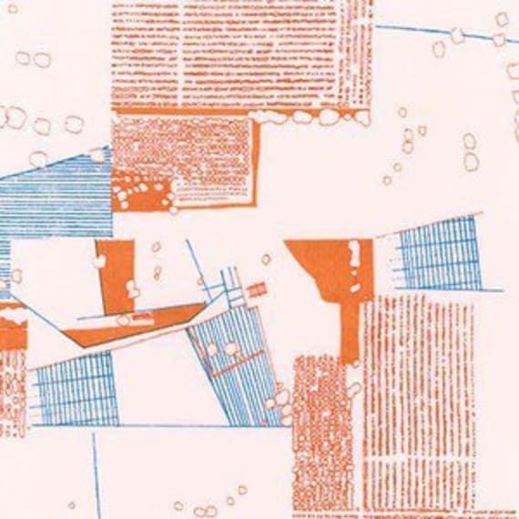 In Stock! Friedlander by Carolyn Friedlander - Fat Quarter- Aerial Lawn in Tangerine