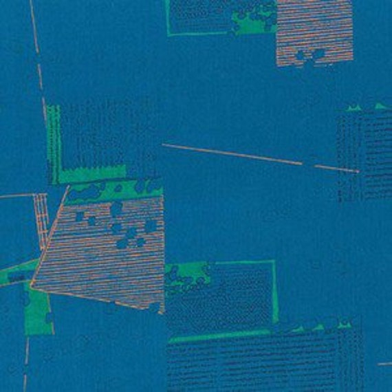 In Stock! Friedlander by Carolyn Friedlander - Fat Quarter- Aerial Lawn in Blue