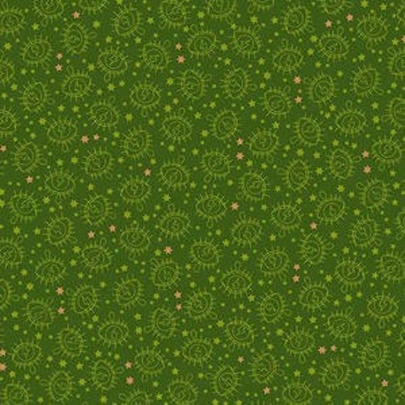 Wildside by Libs Elliot for Andover Fabrics - Electric Eye in Army Metallic - Fat Quarter