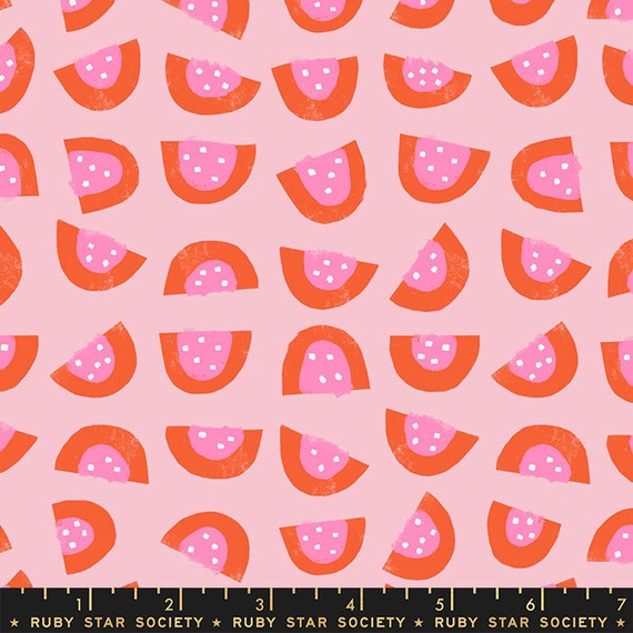 Food Group Watermelon in Peony (RS5040 13) by Ruby Star Society -- Fat Quarter