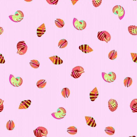 Fat Quarter Sea Shellss in Glowfish  - Tula Pink's Zuma for Free Spirit Fabrics