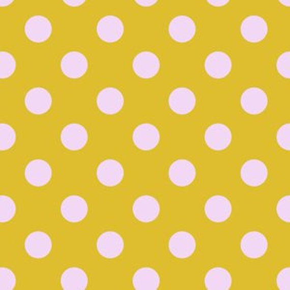 Fat Quarter Pom Poms in Marigold  - Tula Pink's All Stars Fabric for Free Spirit Fabrics