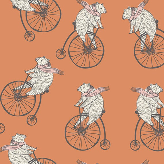 Little Clementine by Art Gallery Fabrics - Mr. Penny in Creamsicle