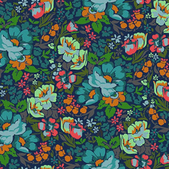 Floral Retrospective by Anna Horner for Free Spirit Fabrics - Overachiever in Mystery