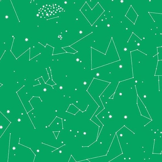Andover Constellations 2019  by Lizzy House- Fat Quarter in Green (A-8182-G)