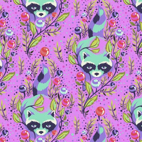 Fat Quarter Raccoon in Fuchsia  - Tula Pink's All Stars Fabric for Free Spirit Fabrics