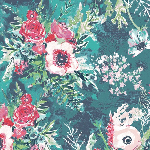 Aquarelle by Katarina Rocella for Art Gallery Fabrics - Impressionist Wash in Fresh