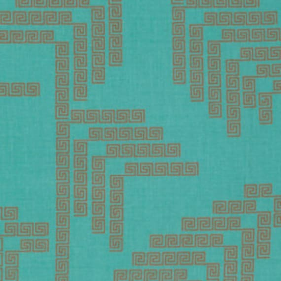 Fibs and Fables by Anna Maria Horner for Free Spirit - Labyrinth in Aqua - Fat Quarter