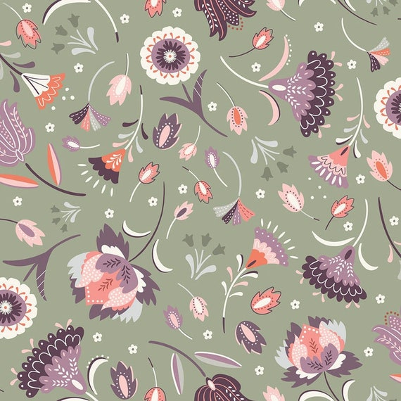 Dashwood Studio Elinor Regency Floral - Cotton Fabric - Fat Quarter