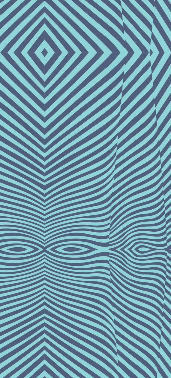 Fat Quarter Lazy Stripe in Sky - Tula Pink's True Colors 2015 for Free Spirit Fabrics