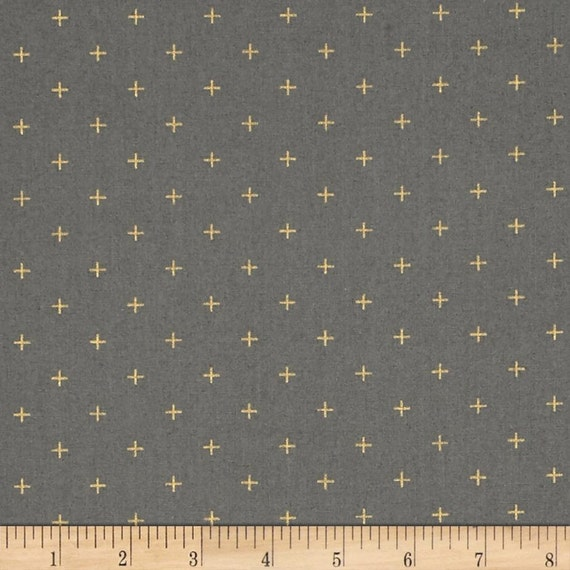 Moda Modern Backgrounds Luster Metallic Positive in Graphite by Zen Chic -- Fat Quarter