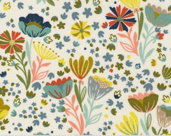 Songbook--  Posie Pocket Floral in Dove (45522 11) by Fancy that Design House for Moda -- Fat Quarter