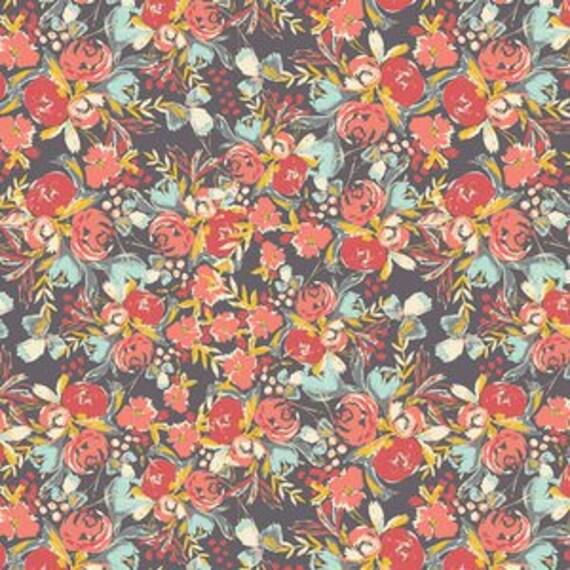 Wild Bloom by Bari J. Ackerman for Art Gallery Fabrics - Flower Field in Sunset - Fat Quarter
