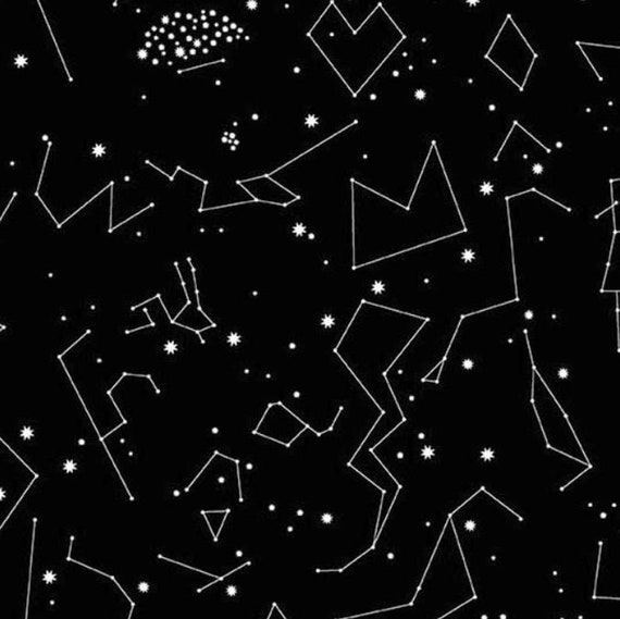 Andover Constellations 2019  by Lizzy House- Fat Quarter in Black (A-8182-K)