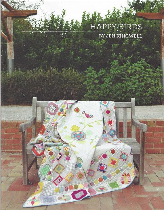 Happy Birds (Mystery Block of the Month) - Pattern Booklet by Jen Kingwell