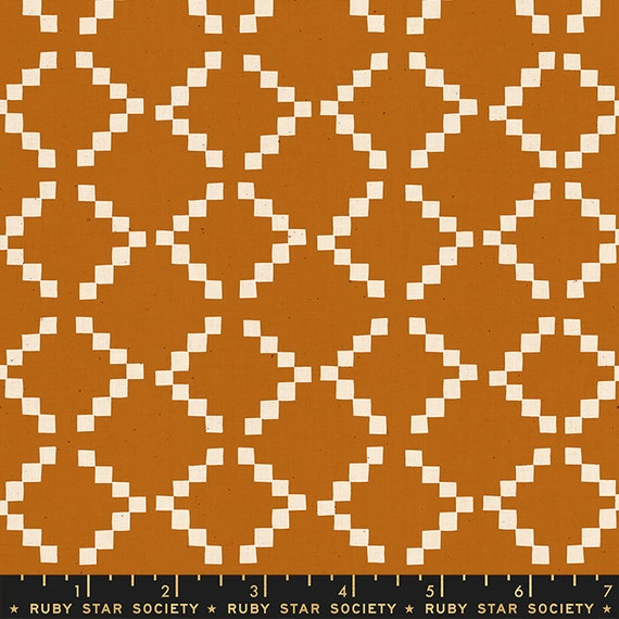 Golden Hour -- Tile in Saddle (RS4020-14) by Ruby Star Society for Moda -- Fat Quarter