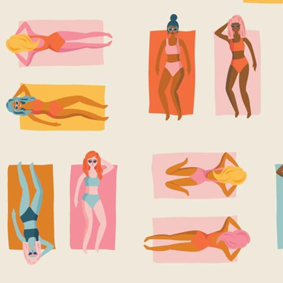 Sunburst by AGF Studio for Art Gallery Fabrics -  Fat Quarter of Fun in the Sun Warm