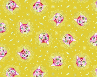 Fat Quarter Cheshire in Wonder - Tula Pink's Curiouser and Curiouser for Free Spirit Fabrics