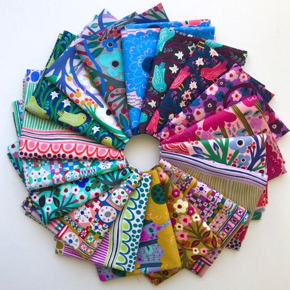 Fat Quarter Bundle of Savernake Road by Monika Forsberg Conservatory Fabrics for Free Spirit -- 18 in total