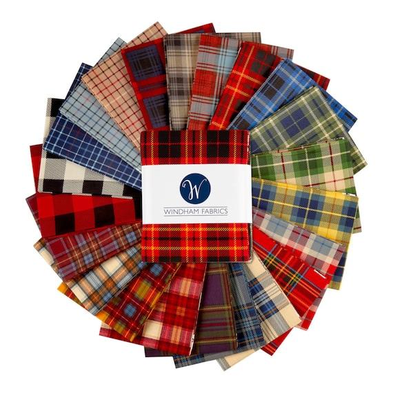 Last One! Precut Fat Quarter Bundle of Dad Plaids by Windham Fabrics