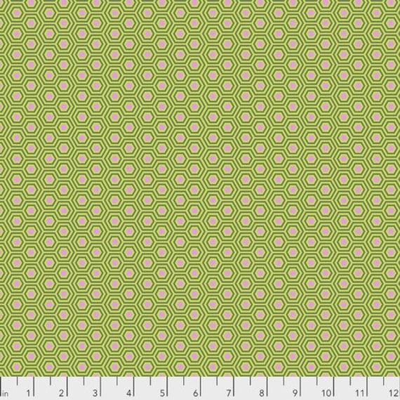 Fat Quarter Hexy in Juniper - Tula Pink's True Colors for Free Spirit Fabrics