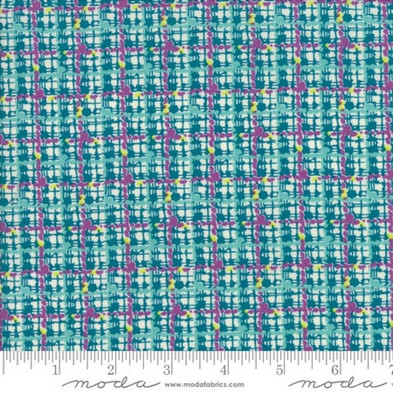 Moda Remix Trellis in Lagoon (1816113) by Jen Kingwell -- Fat Quarter