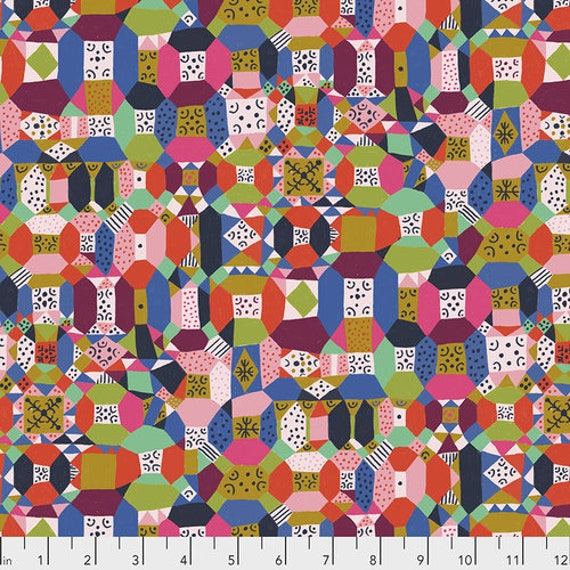 Endless Summer by Monika Forsberg for Anna Maria Horner's Conservatory Chapter 3 - Fat Quarter of Groove in Candy