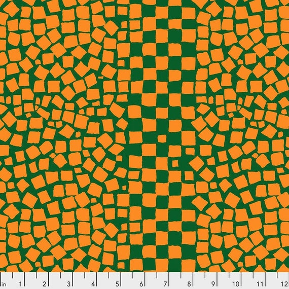 Kaffe Fassett Collective February 2021 -- Fat Quarter of Brandon Mably Chips in Pine