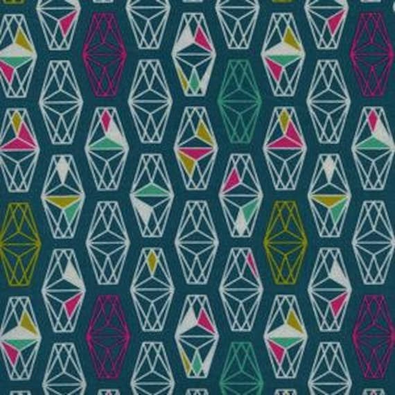 Lagoon --  Lively Lanterns in Dark Teal by Rashida Coleman Hale for Cotton and Steel