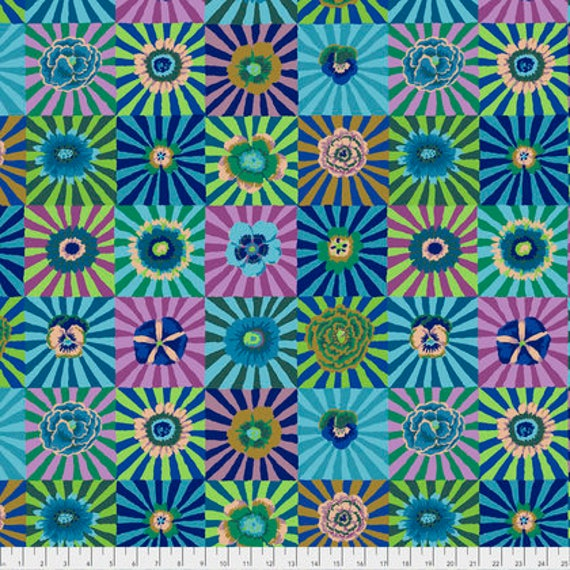 Kaffe Fassett Collective  -- Fat Quarter of Kaffe Fassett Fall 2017 Sunburst in Blue