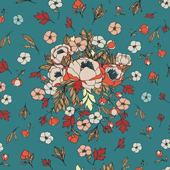 Love Story by Maureen Cracknell for Art Gallery Fabrics - Soulmate Blooms in Lust
