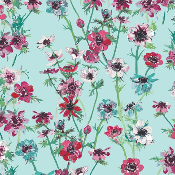 Aquarelle by Katarina Rocella for Art Gallery Fabrics - Anemone Study in Morning