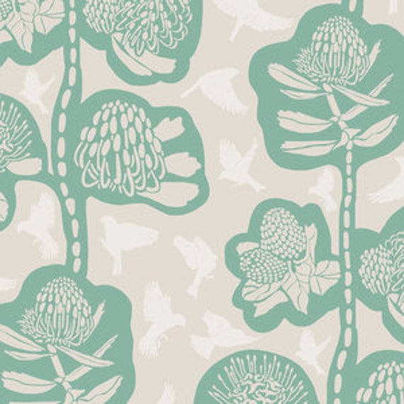 Sweet Dreams by Anna Horner for Free Spirit Fabrics - Remains in Seafoam