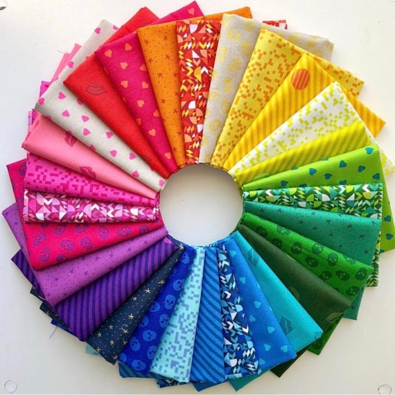 Mix Talr by Libs Elliot for Andover Fabrics -  Fat Quarter Bundle of 28 including two linen/cotton