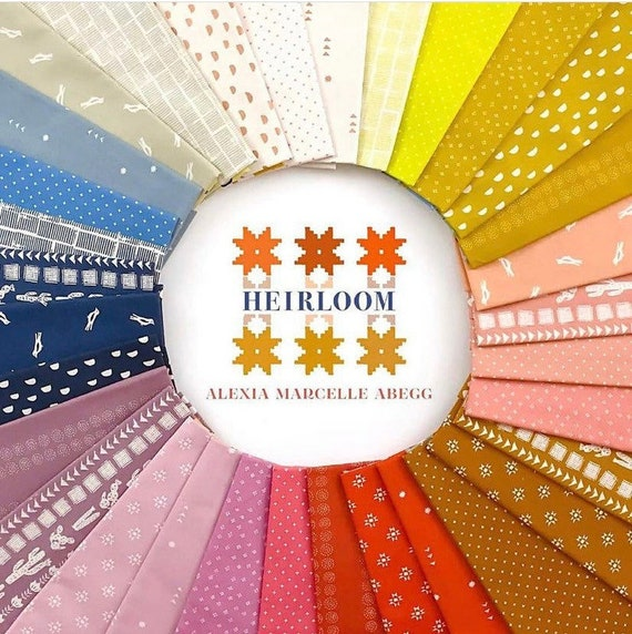 Preorder arriving this Friday- Heirloom by Alexia Marcelle Abegg - Ruby Star Society - Fat Quarter Bundle of 32 Prints Including 6 Add it Up