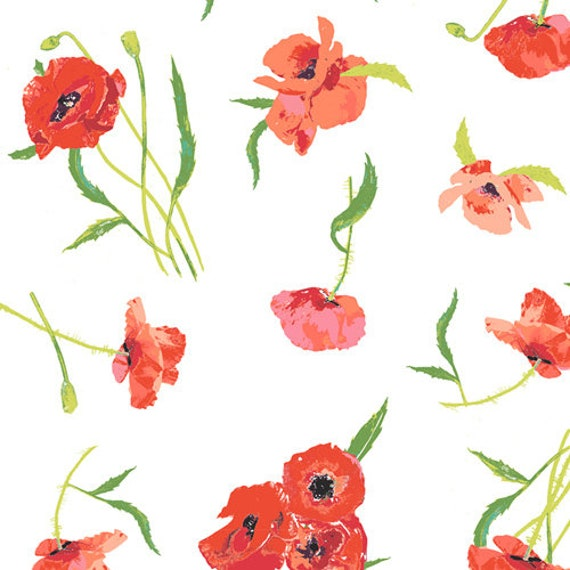 Floralish by Katarina Roccella for Art Gallery Fabrics - Poppy Reflections - Fat Quarter