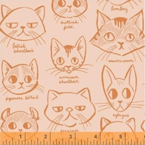 Caturday by Felice Regina for Windham Fabrics - Catitude in Orange