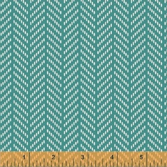 Hello Jane by Allison Harris for Windham Fabrics - Herringbone in Teal - Fat Quarter