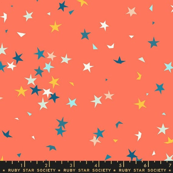 Pop and Zip. -- Pop Soda Pop in Tangerine Dream (RS100413) by Ruby Star Society for Moda -- Fat Quarter