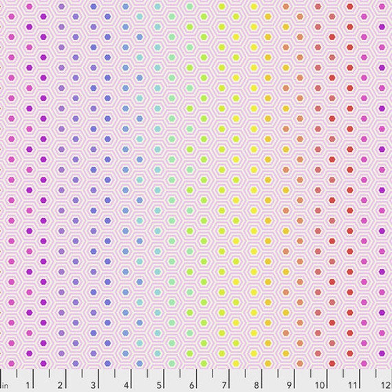 Fat Quarter Hexy in Shell - Tula Pink's True Colors for Free Spirit Fabrics