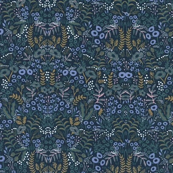 Menagerie -- Tapestry in Navy by Rifle Paper Company for Cotton and Steel