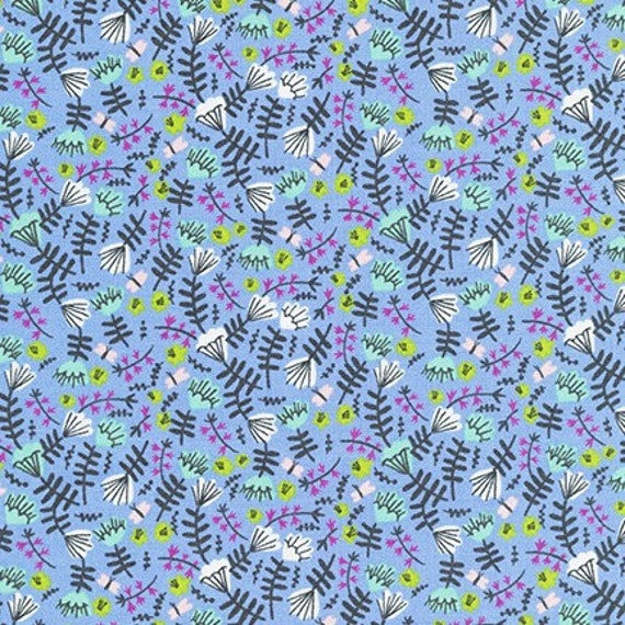 Robert Kaufman -     AIL-19559-61 PERIWINKLE by Hello!Lucky from Wild and Free - Fat Quarter