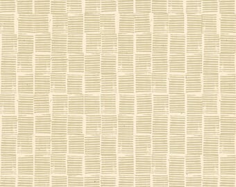 Heirloom Stripe Stamp in Khaki (RS4029 11) by Alexia Marcelle Abegg for Ruby Star Society -- Fat Quarter