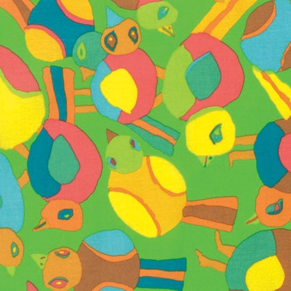 Kaffe Fassett Collective  -- Fat Quarter of Round Robin in Lime