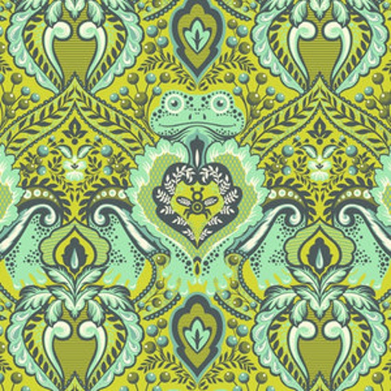 Fat Quarter Frog Prince in Myrtle  - Tula Pink's All Stars Fabric for Free Spirit Fabrics