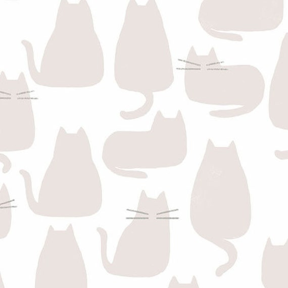 Whiskers and Dash by Sarah Golden for Andover Fabrics - Fat Quarter of Whiskers in Haze (A-9168-L1)