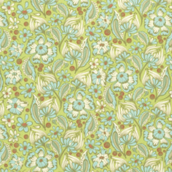 Fat Quarter Wild Vines in Mint - Tula Pink Chipper